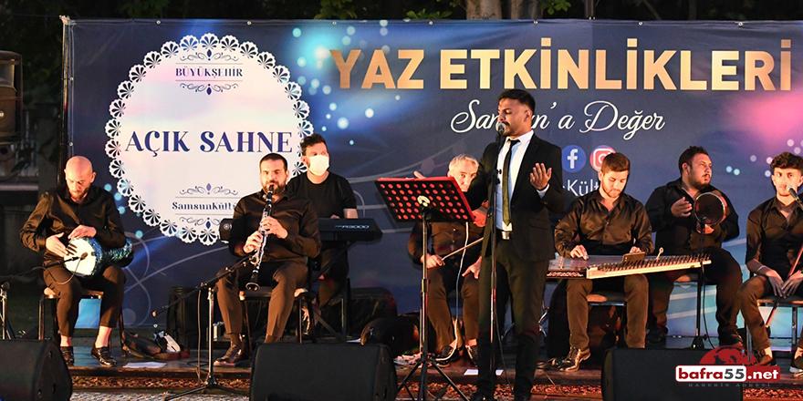 Samsun'da Açık Sahne Halk Konseri