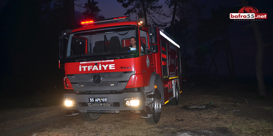 Terme'deki Sazlık Yangını Kontrol Altına Alındı