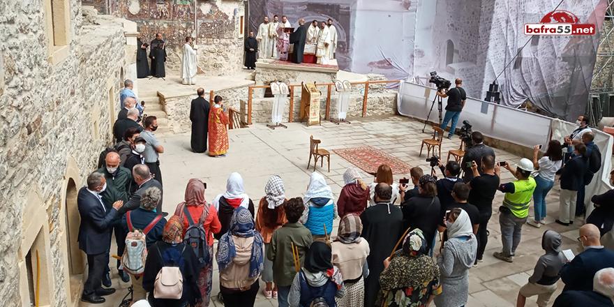 Sümela Manastırı'nda 5 yıl sonra ilk ayin