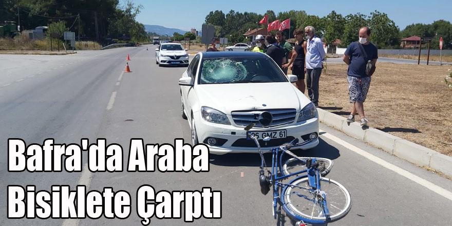 Bafra'da Araba Alkollü  Bisiklet Sürücüsüne  Çarptı