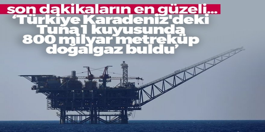 Karadeniz'e müjdeli haber