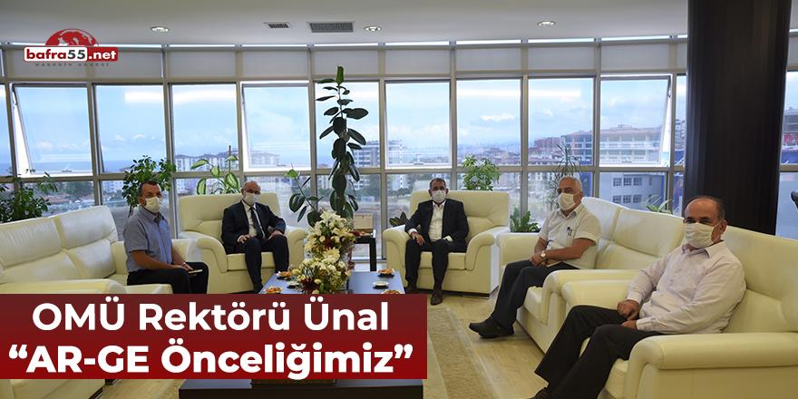 """OMÜ Rektörü Ünal """"AR-GE Önceliğimiz"""""""