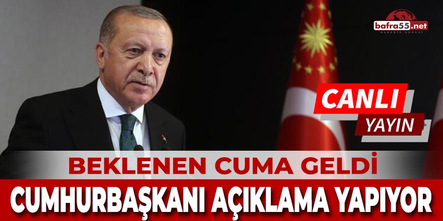 Başkan Recep Tayyip Erdoğan Açıklamalar Yapıyor