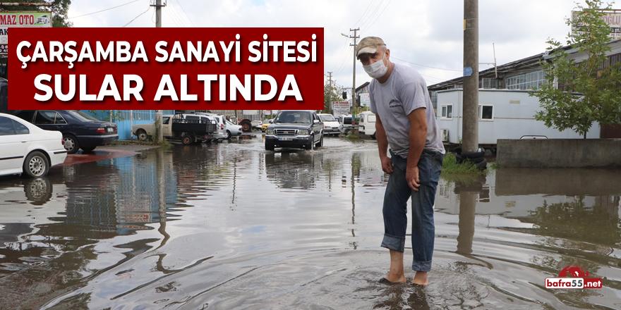 Çarşamba Sanayi Sitesi Sular Altında