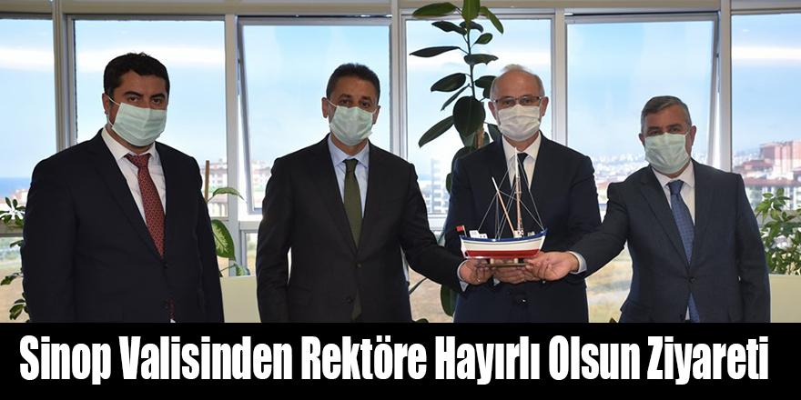 Sinop Valisinden Rektöre Hayırlı Olsun Ziyareti