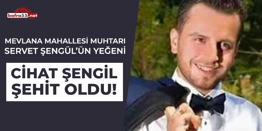 Mevlana Mahallesi Muhtarı Servet Şengül'ün Yeğeni Cihat Şengil Şehit Oldu!
