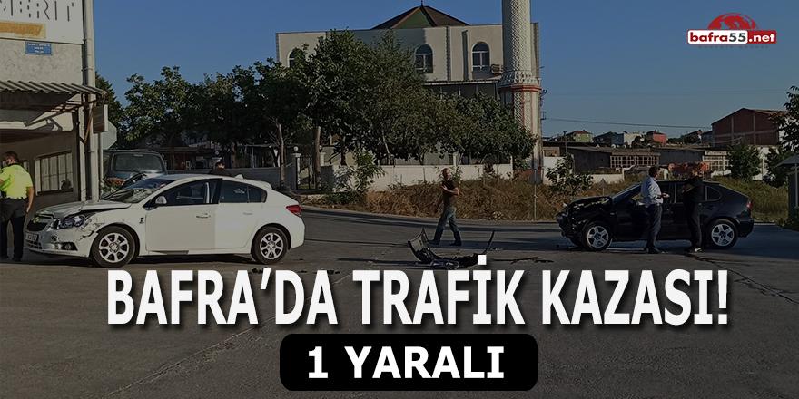 Bafra'da Trafik Kazası! 1 Yaralı