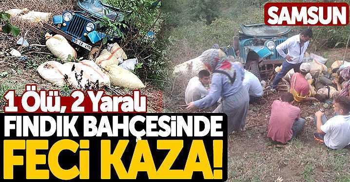 Samsun'da Fındık Bahçesinde Feci Kaza! 1 Ölü, 2 Yaralı