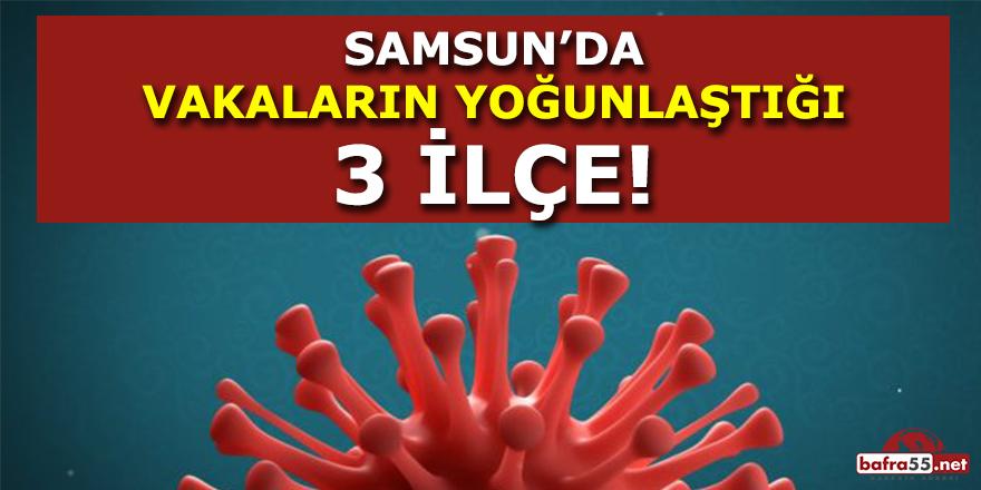 Samsun'da Vakaların Yoğunlaştığı 3 İlçe !