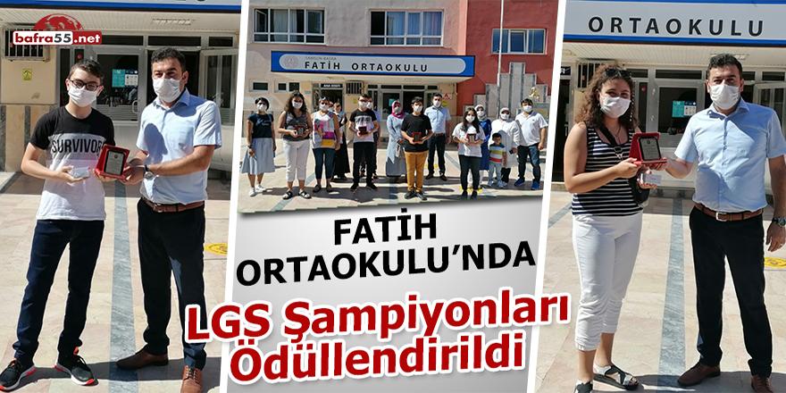 Fatih Ortaokulu'nda LGS Şampiyonları Ödüllendirildi