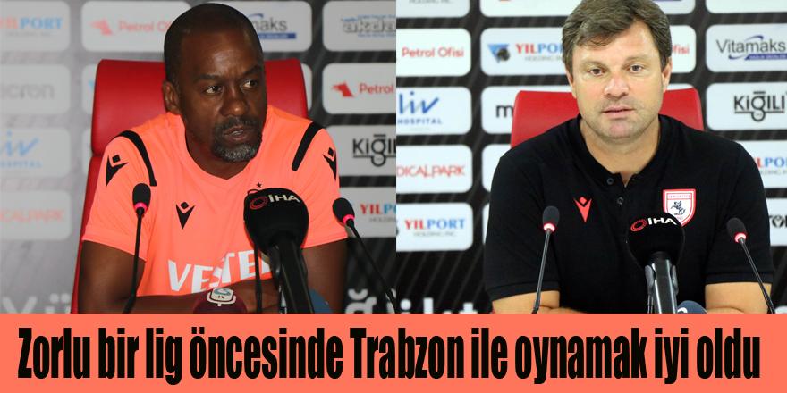 """Sağlam;""""Zorlu bir lig öncesinde Trabzon ile oynamak iyi oldu"""""""