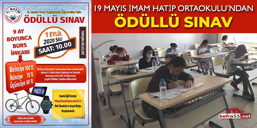 19 Mayıs İmam Hatip Ortaokulu'ndan Ödüllü Sınav