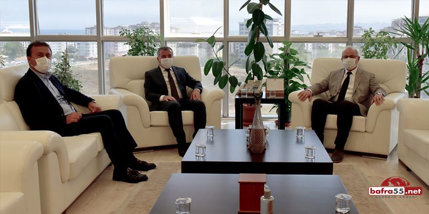 Başkan Özdemir ve Ak Parti Havza İlçe Başkanı Güven'den Rektör Ünal'a Hayırlı Olsun Ziyareti
