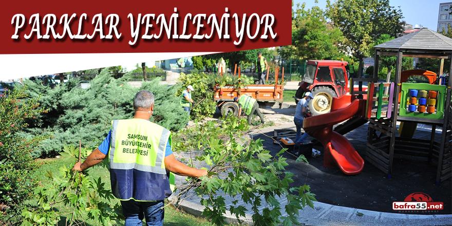 Samsun'da Parklar Yenileniyor