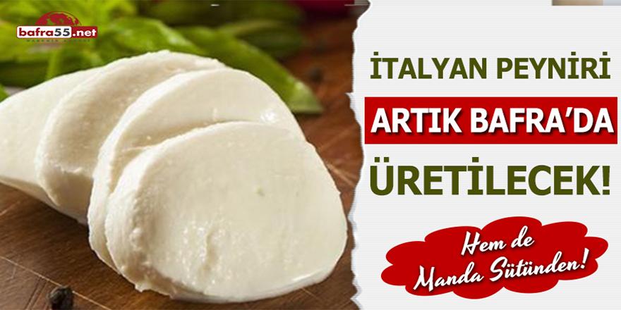 İtalyan Peyniri Artık Bafra'da Üretilecek!