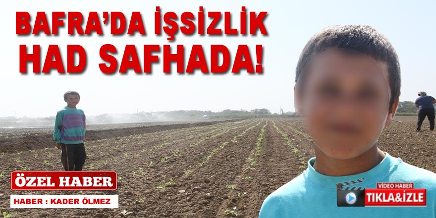 Bafra'da İşsizlik Had Safhada !
