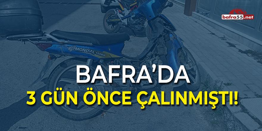 Bafra'da Çalınan Motor Bulundu!