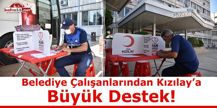 Belediye Çalışanlarından Kızılay'a Büyük Destek!