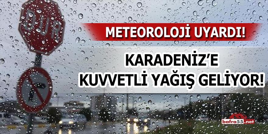 Karadeniz'e Kuvvetli Yağış Geliyor!