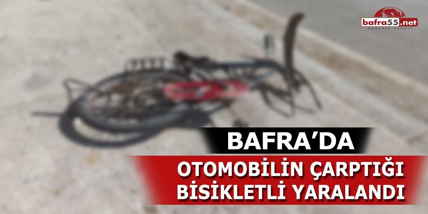 Bafra'da otomobilin çarptığı bisikletli yaralandı