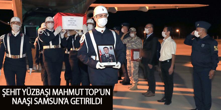 Şehit Yüzbaşı Mahmut Top'un naaşı Samsun'a getirildi