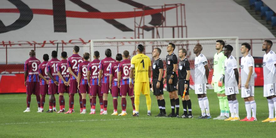 Beşiktaş Trabzonda 1-0 önde (İlk yarı)