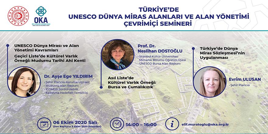 """OKA'dan """"Türkiye'de UNESCO Dünya Miras Alanları ve Alan Yönetimi"""" semineri"""