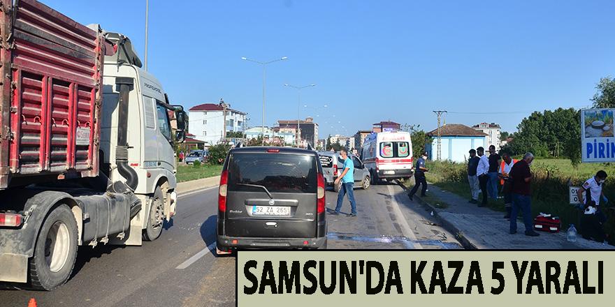 Samsun'da kaza 5 yaralı