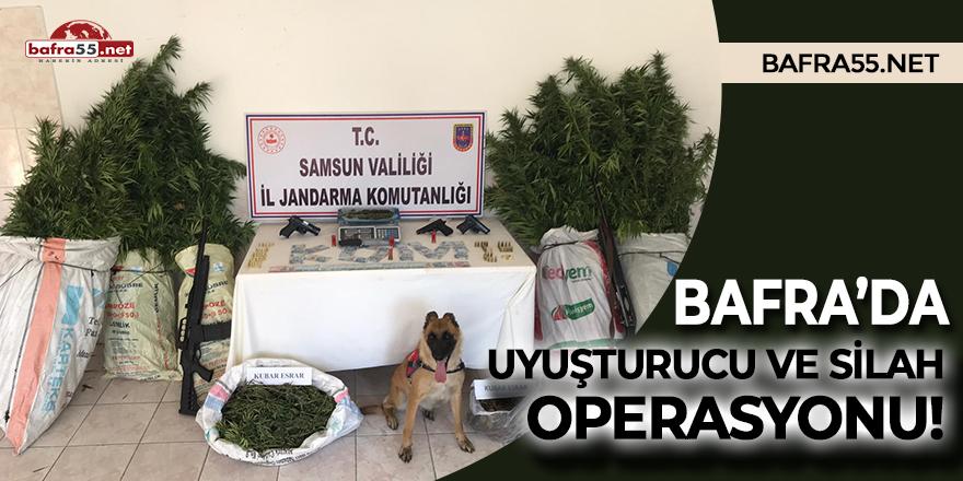 Bafra'da uyuşturucu ve silah operasyonu!