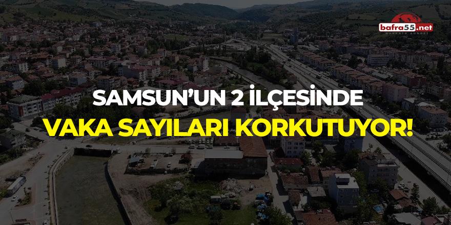 Samsun'un iki ilçesinde vaka sayıları korkutuyor!