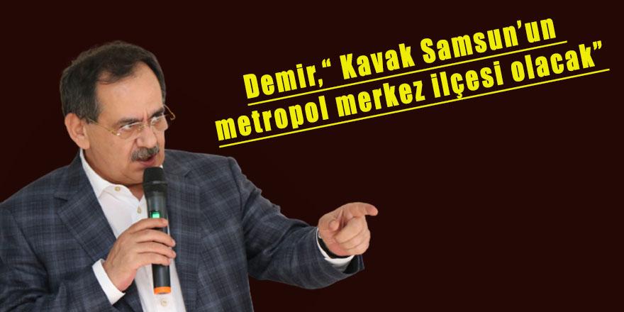"""Demir,"""" Kavak Samsun'un metropol merkez ilçesi olacak"""""""