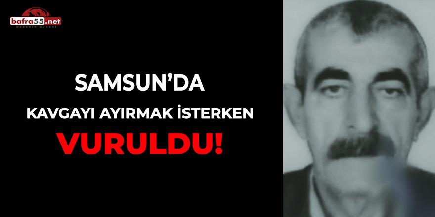 Samsun'da kavgayı ayırmak isterken vuruldu!