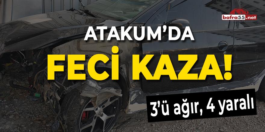 Atakum'da feci kaza!