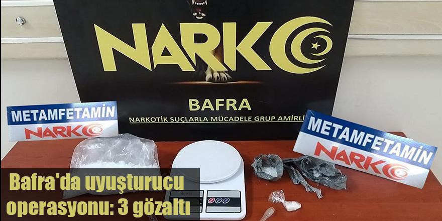 Bafra'da uyuşturucu operasyonu: 3 gözaltı