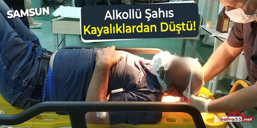 Samsun'da alkollü şahıs kayalıklardan düştü!