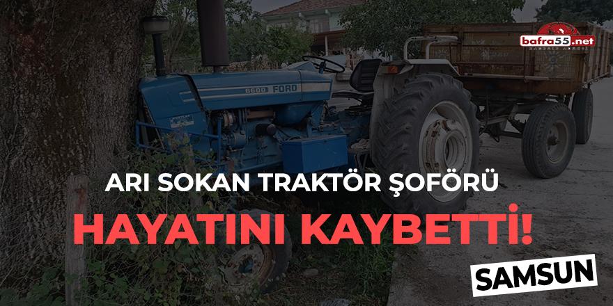 Arı sokan traktör şoförü hayatını kaybetti