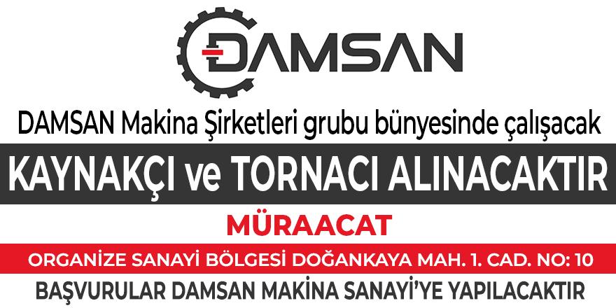 DAMSAN Makina personel ilanı