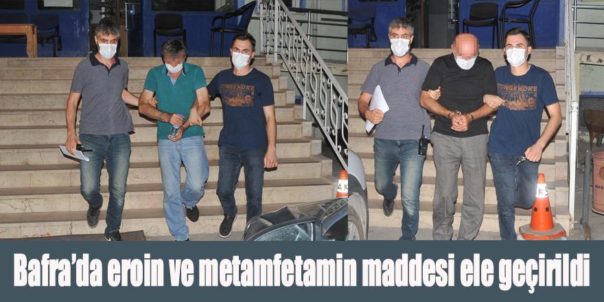 Bafra'da eroin ve metamfetamin maddesi ele geçirildi