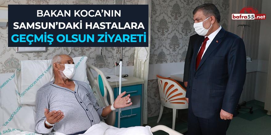 Bakan Koca'nın Samsun'daki hastalara geçmiş olsun ziyareti