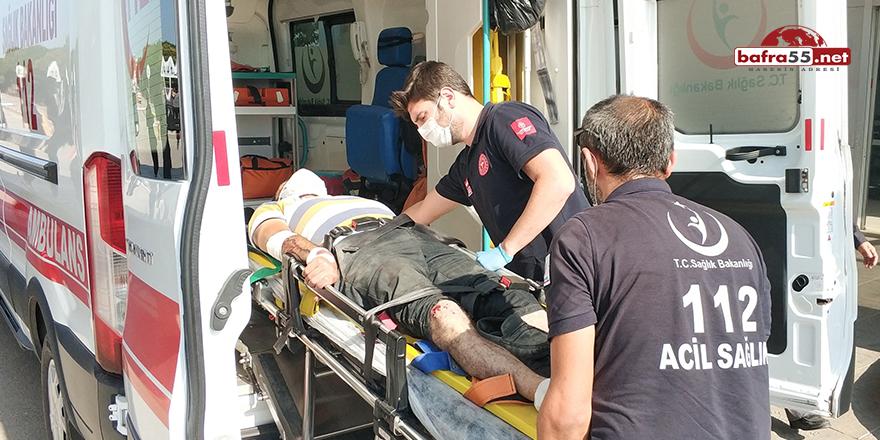 Samsun'da motosiklet kazası!