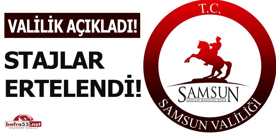 Samsun'da tıp, veterinerlik ve diş hekimliği hariç stajlar ertelendi