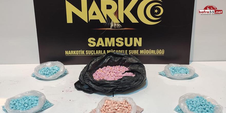 Samsun'da 3 bin 328 uyuşturucu hap ele geçirildi