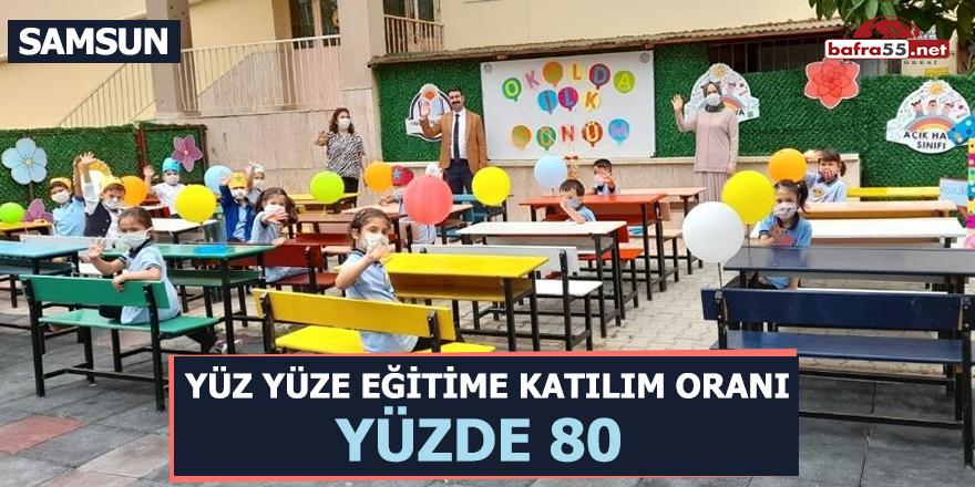 Samsun'da yüz yüze eğitime katılım oranı yüzde 80
