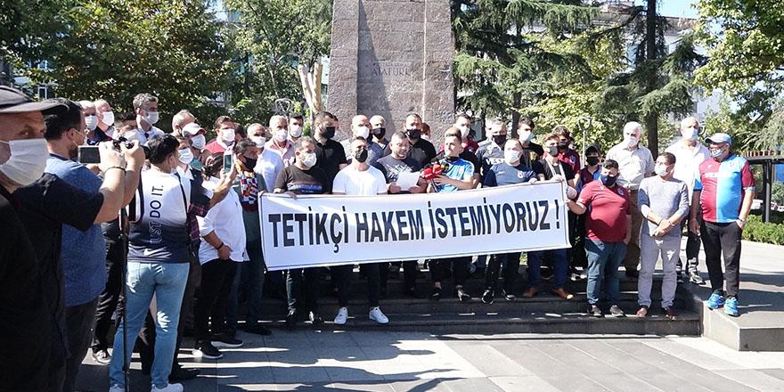 Trabzonspor taraftarlarından TFF ve MHK'ye tepki