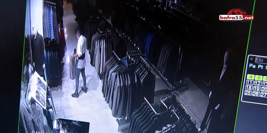 Bafra'da Takım Elbise Hırsızları Yakalandı