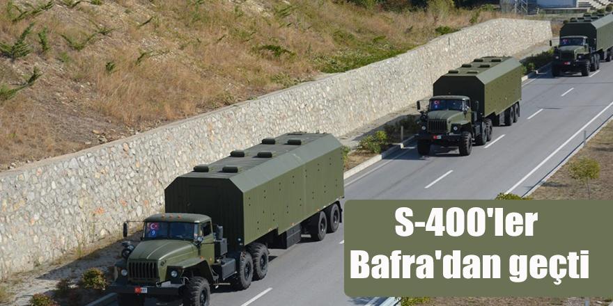 S-400'ler Bafra'dan geçti