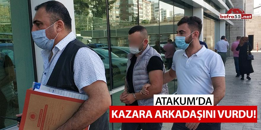 Atakum'da kazara arkadaşını vurdu!