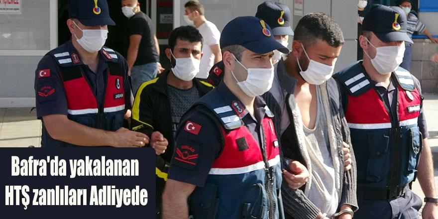 Bafra'da yakalanan HTŞ zanlıları Adliyede