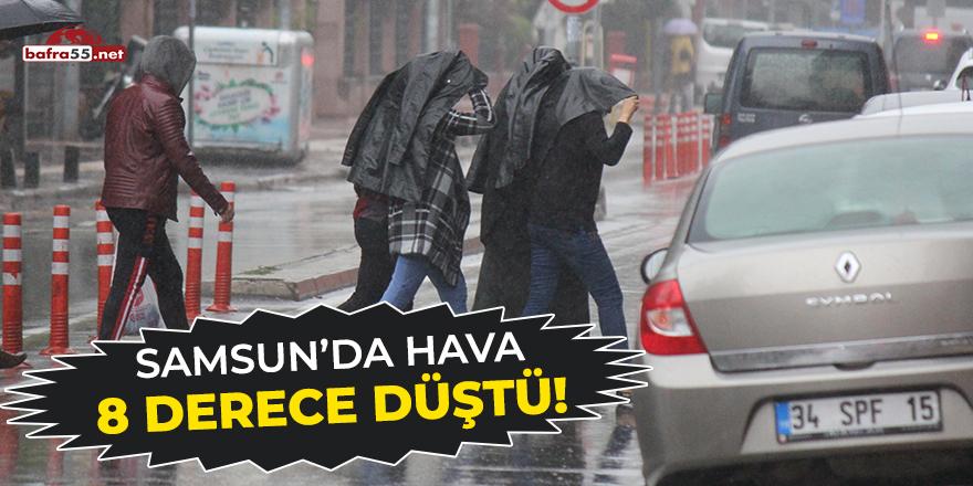 Samsun'da hava 8 derece düştü