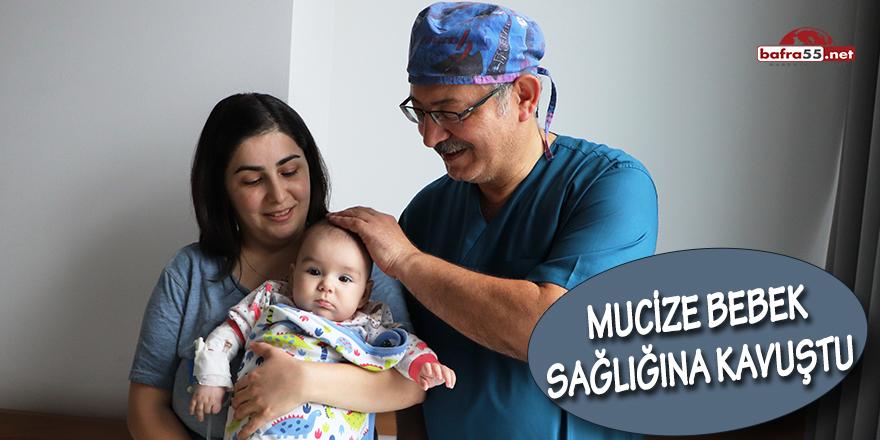 Mucize bebek sağlığına kavuştu